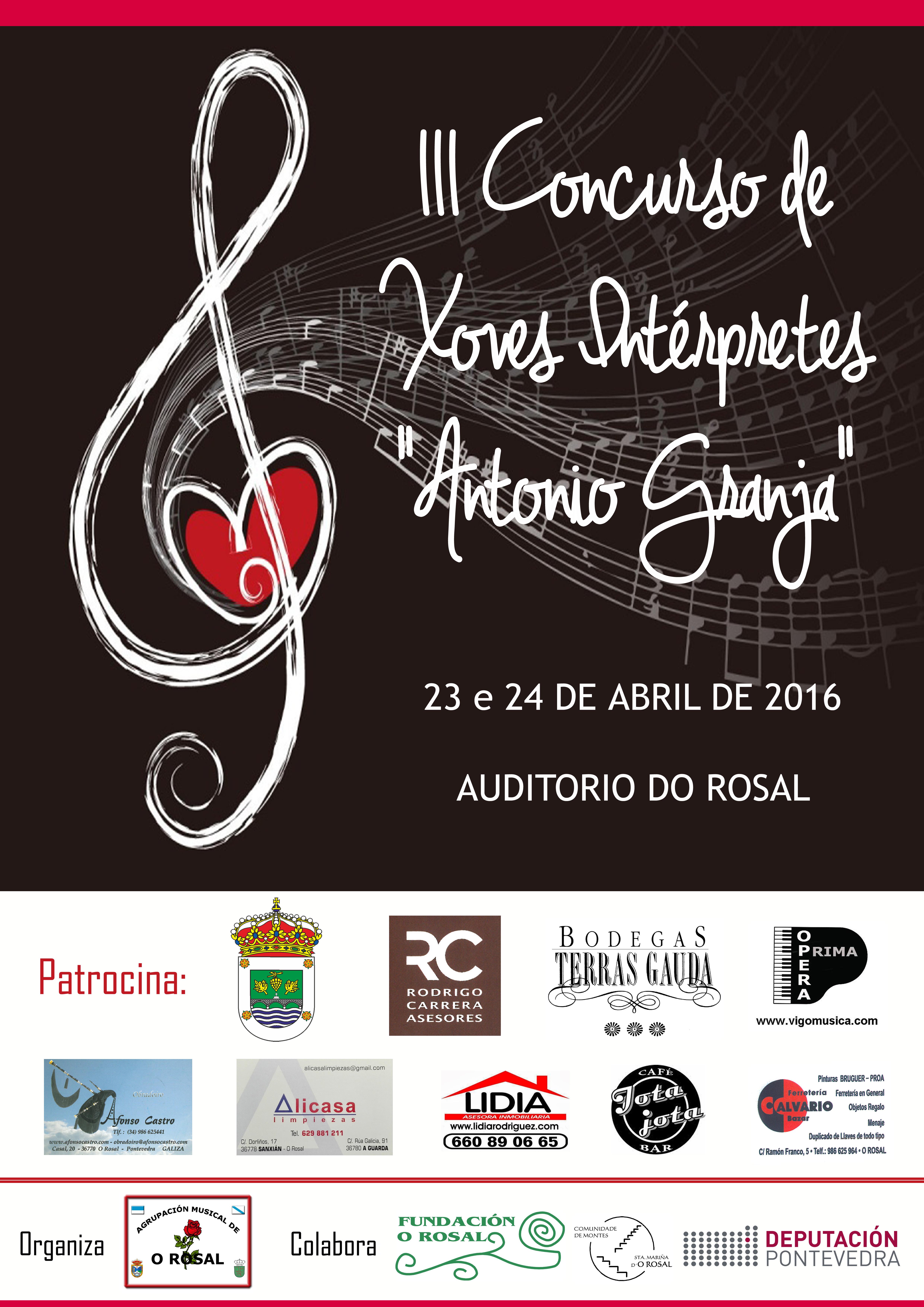 Cartel Concurso Antonio Granja